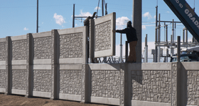 Tall Concrete Fence for Public Utility Sector