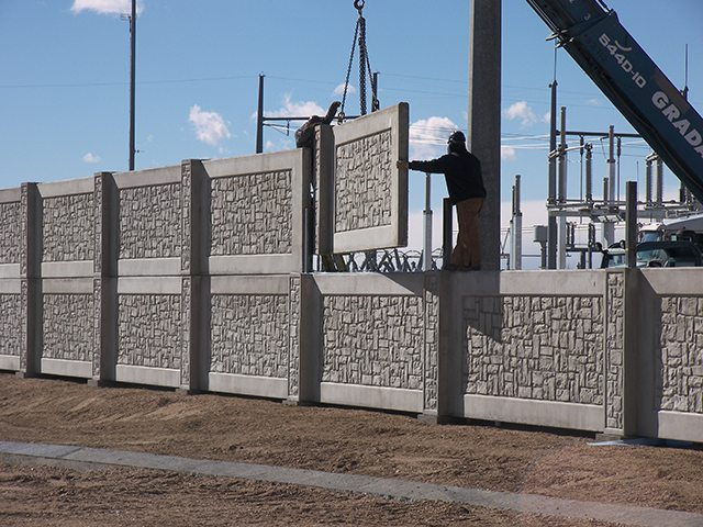Commercial Fence precast concrete Walls Panels Reduce Construction-Related Costs