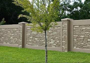 maintenance free stone fence walls halfsize