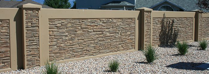 Residential Concrete block fence forms